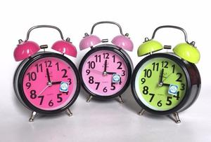 Reloj Despertador Vintage Retro Colores Doble Campana- Moron