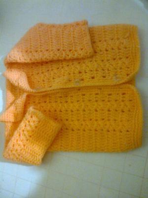 Saquito crochet tejido