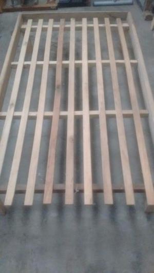 cama de madera 1 1/2 plaza