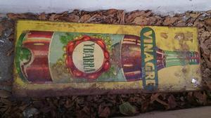 carteles de chapa de vinagre vintage