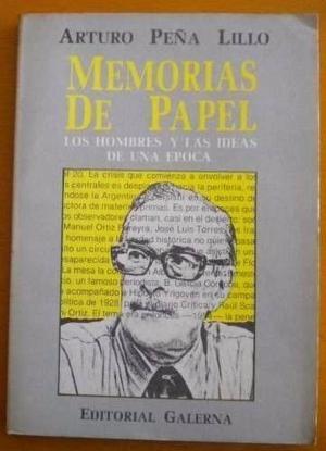 Arturo Peña Lillo-Memorias de papel