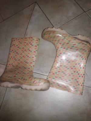 Botas de lluvia nena