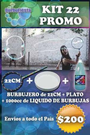 Burbujero 22cm + Plato + cc De Liquido Burbujas Gigantes