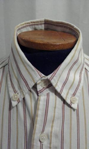 Camisa blanca de hombre - Rayas rojas - Talle M