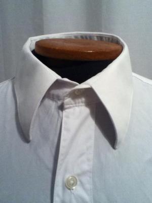 Camisa de hombre - Blanca - Perry Ellis - Talle M