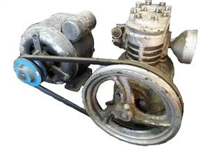 Compresor Doble Cilindro Con Motor