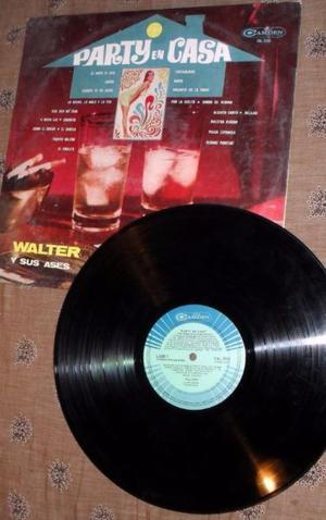 """Disco vinilo Walter y sus ases """"Party en casa"""""""