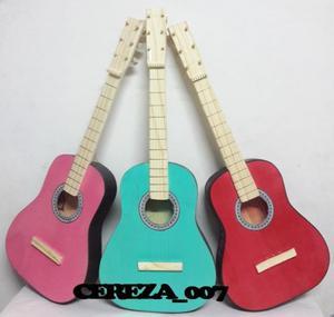Guitarra De Madera Juguete Nene/na Verde Rosa Rojo Azul 68cm