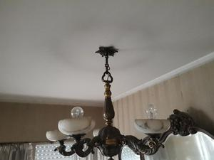 Lámpara bronce 5 luces
