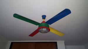 Ventilador de techo Benetton de colores