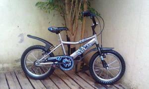 bicicleta raleigh cromada rodado 16 para nene ! igual a
