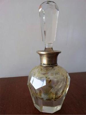 perfumero de cristal y plata