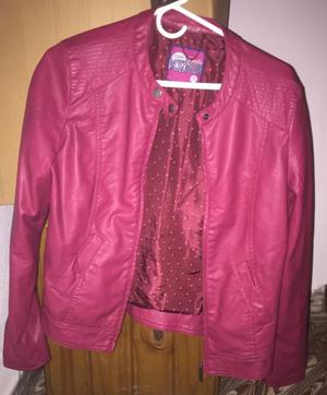 Campera Simil Cuero Sybilla Talle M Impecable Color Fucsia