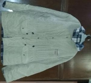 Campera de corderoy Play Men forrada con abrigo color beige
