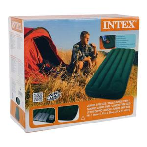 Colchon Inflable Intex 1 Plaza Inflador Incorporado