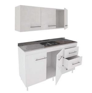 Kit Combo Cocina = Bajo Mesada + Alacena + Mesada Acero Inox