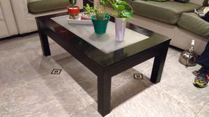 Mesa ratona de madera negra