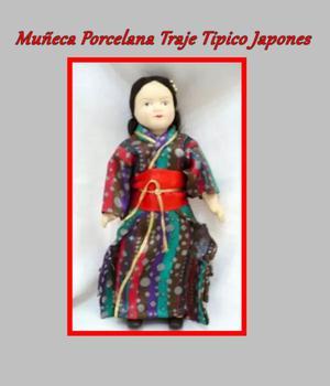 Muñeca Porcelana Traje Tipico Japones