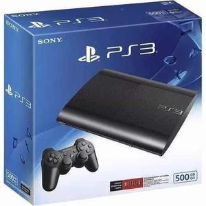 Playstation 3 Super Slim Con Más De 70 Juegos, 500gb Blanca