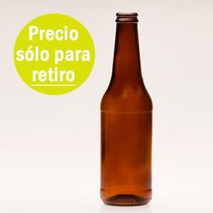 Promo Botella 355 Cc Vidrio Porrón Cerveza Solo Para Retiro