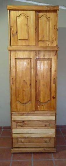 ROPERO de pino con alzada y puertas corredizas 0,80 anc X