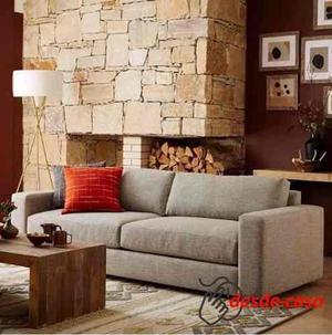 Sillon Sofa 2 Dos Cuepos Chenille Linea Premium Placa Soft