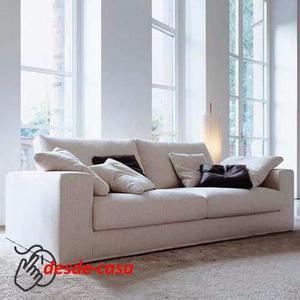 Sillon Sofa 3 Tres Cuerpos 2,10mts En Chenille Premium