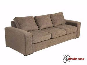 Sillon Sofa 3 Tres Cuerpos En Chenille Premium