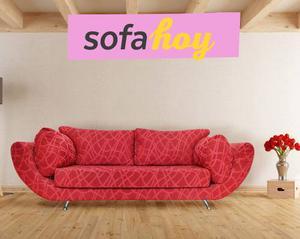 Sofa Turín Sillon Living 3 Cuerpos 2 Chenille Eco Cuero