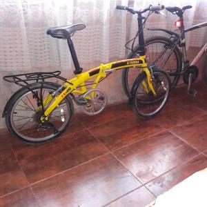 Vendo hermoza bicicleta x terra rodado 20 de aluminio.
