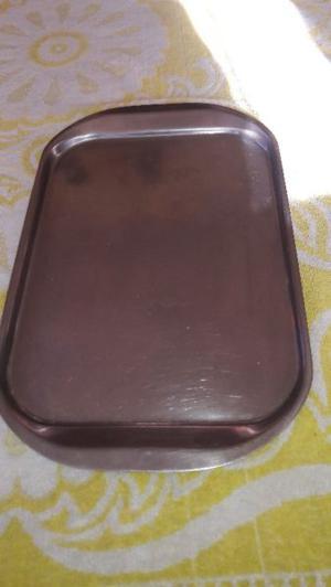 bandeja de acero inoxidable de 25 x 40 cm