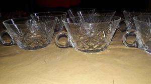 jarritas de ponche en cristal tallado