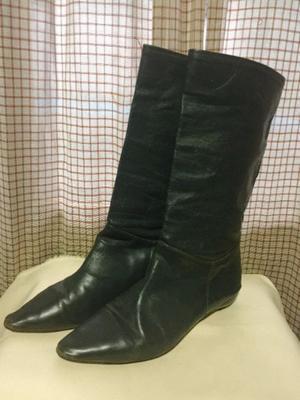 Botas de cuero grises