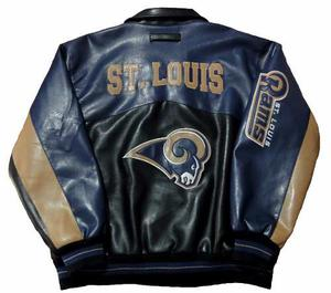 Campera St. Louis Rams Nfl Original Simil Cuero Talle 2xl