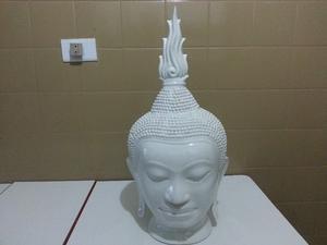 Cabeza de Buda de cerámica esmaltada 56 cms.Unica!!