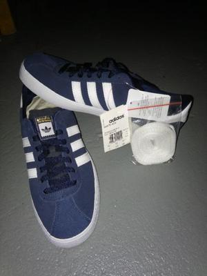 Zapatillas Adidas Original Classics Azules Gamuza