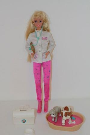 Barbie Veterinaria- Perfecto Estado + Accesorios