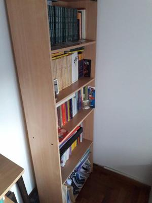 Biblioteca Melamina color Haya. 4 Estantes