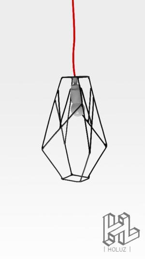 HOLUZ Cruzada | Lámpara de hierro reciclado