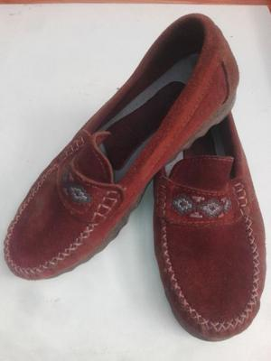 MOCASINES DE NOBUK COLOR MARRON N°41 EXCELENTES...!!!