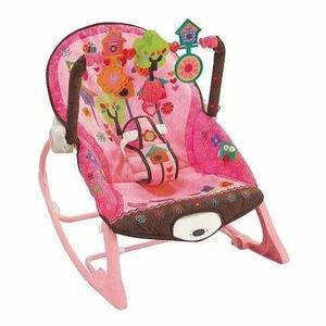 Silla Mecedora Rosa Vibradora Zippy Toys Nueva Para Bebe