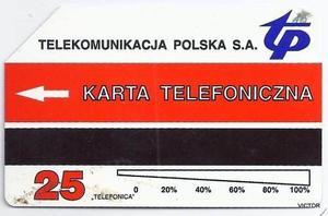 TARJETA DE TELEFONO POLSKA SA. USADA