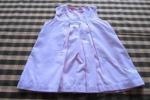 Vestido de corderoy bordado para beba de 6 a 9 meses, marca