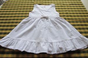 Vestido de corderoy, color blanco, para nena de 3 años,