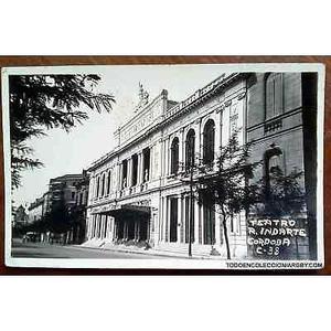 antigua postal del teatro r indarte en cordoba  c38
