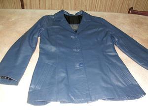saco de cuero azul