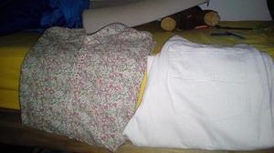 Camisa con onda floreada NUEVA y Jeans MISTRALTalle 36 color