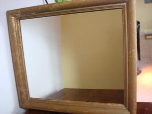 Espejo en marco de madera x m marco cm posot class for Espejo marco dorado