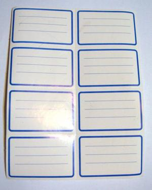 Etiqueta Etiquetas Nombre Y Materia Escolares X 8 Unidades