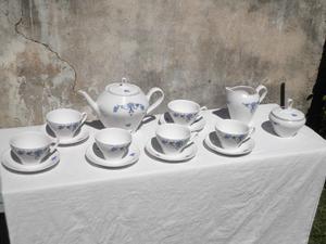 Hermoso Juego de Té de Porcelana Antigua (Baviera) p/ 6